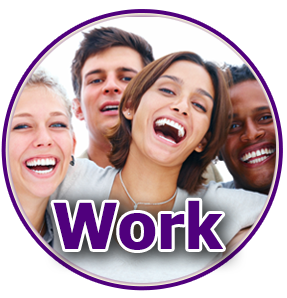 Work - photo of 4 smiling people